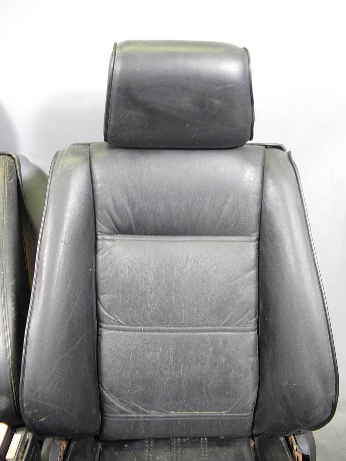 hight resolution of  sports seats pair black leather used img bmw