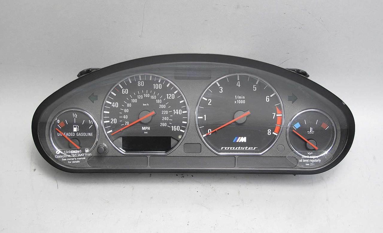 medium resolution of 98 00 bmw z3 m roadster s52 instrument gauge cluster panel speedo tach mph oem img 98 00 bmw z3 m roadster s52 instrument gauge cluster panel