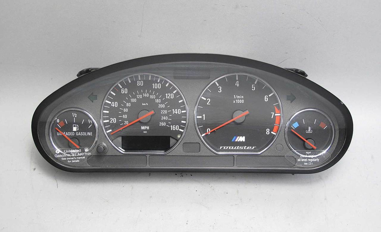small resolution of 98 00 bmw z3 m roadster s52 instrument gauge cluster panel speedo tach mph oem img 98 00 bmw z3 m roadster s52 instrument gauge cluster panel