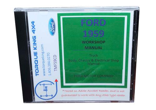 1959 Ford F100 Shop Manual