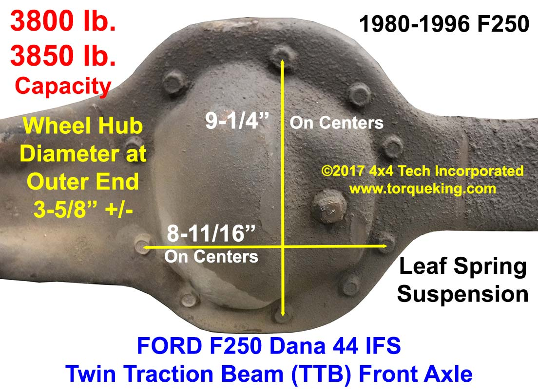 small resolution of front axle identification learn about ford f250 dana 44ifs front axle identification tag idn 136 torque king 4x4