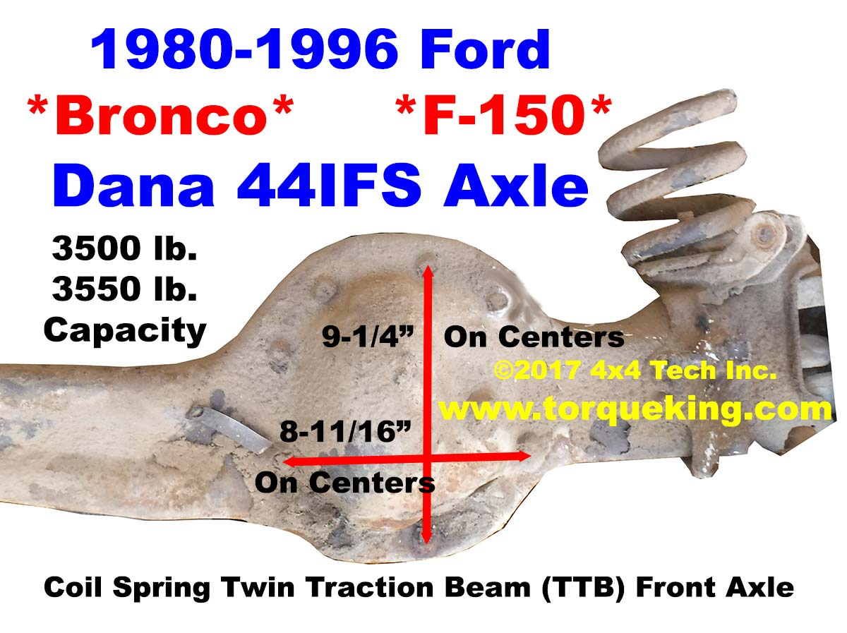 medium resolution of front axle identification idn 137 learn about the ford bronco f 150 front axle identification idn 137 torque king 4x4