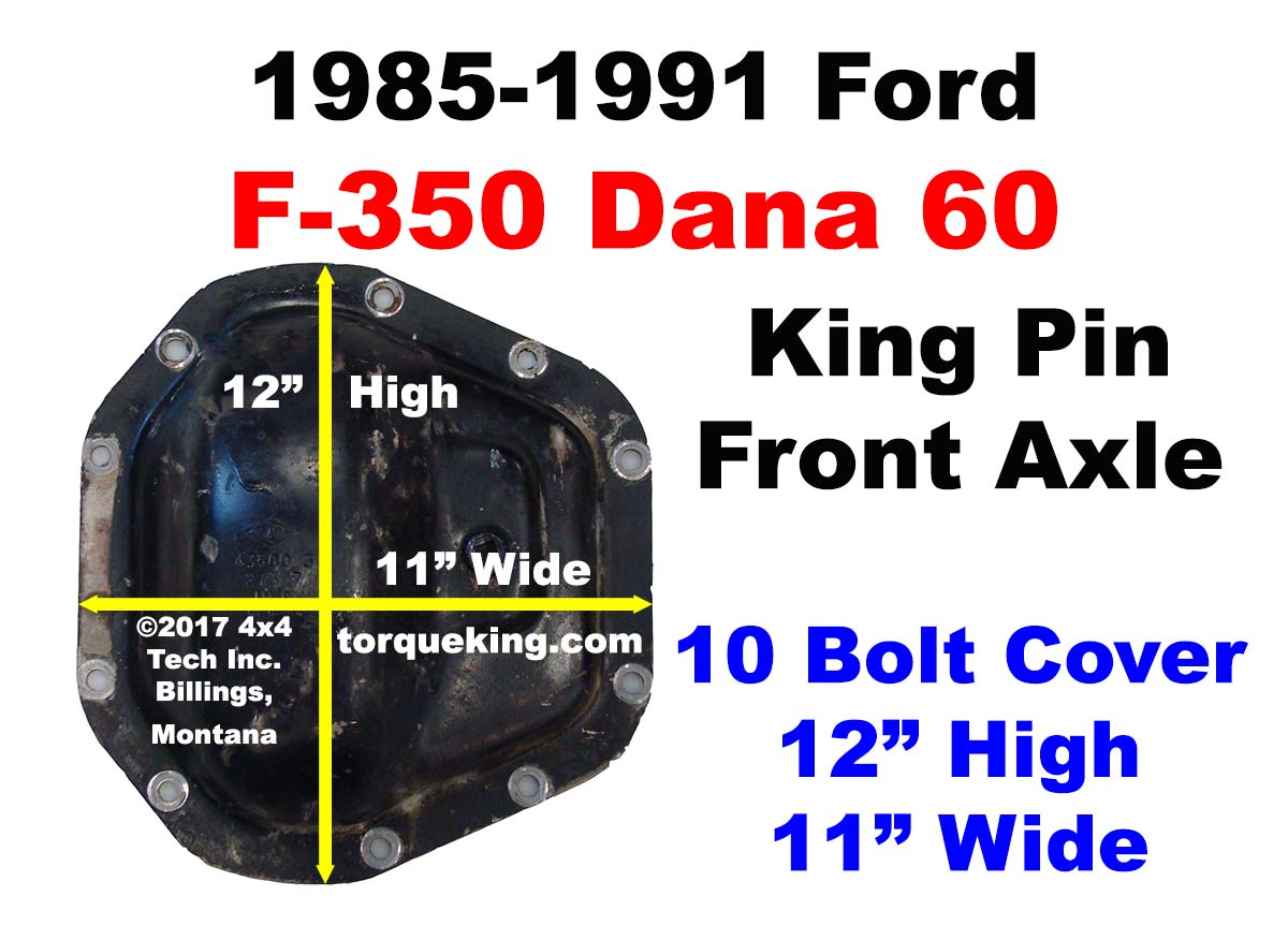hight resolution of ford front axle identification learn about the 1985 1991 ford f350 dana 60 front axle id tag idn 139 torque king 4x4