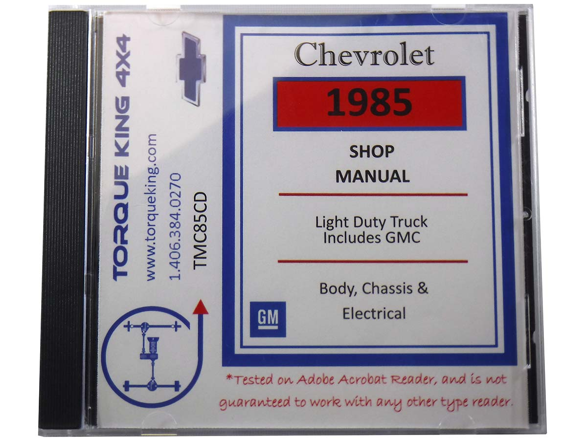small resolution of 1985 gmc truck manual