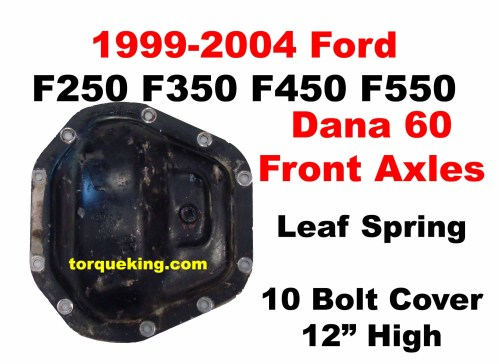 small resolution of 1999 2004 ford dana60 front axle cover lq