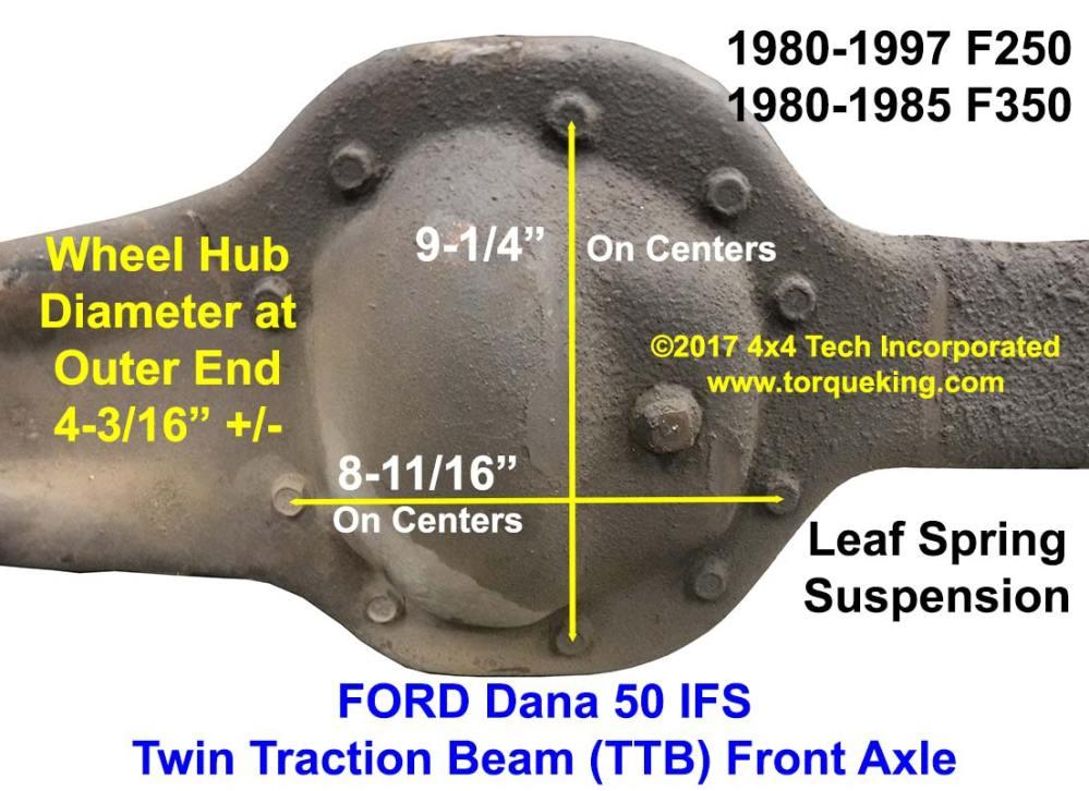 medium resolution of ford dana 50ifs left axle beam 1200 jpg