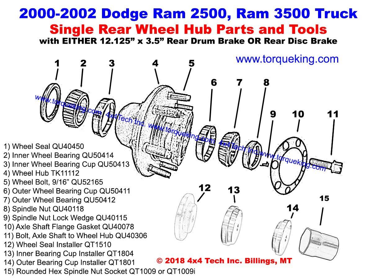 hight resolution of ram rear wheel hub xview bw drawing b