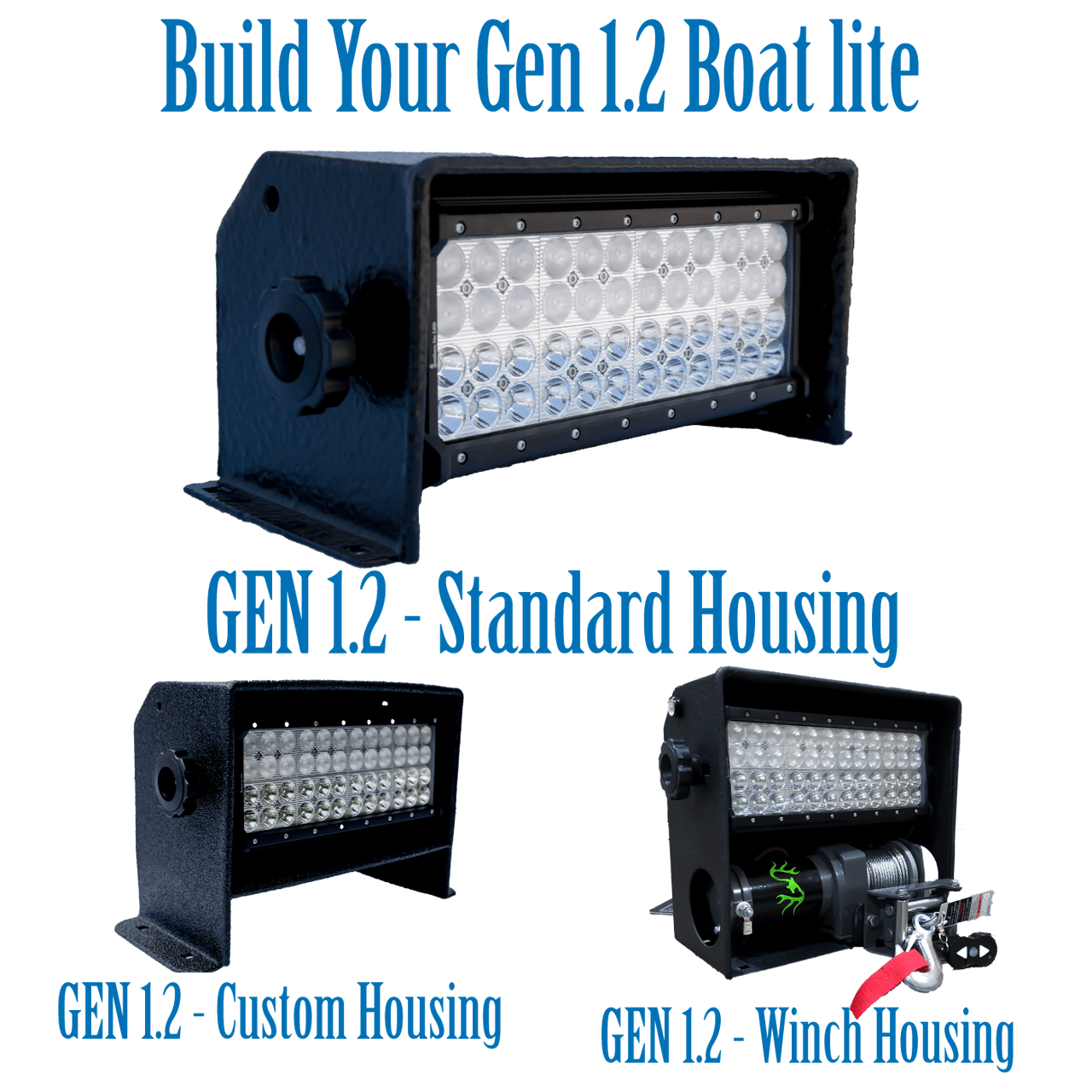 hight resolution of build you gen1 2 boat lite choose your housing style color and many