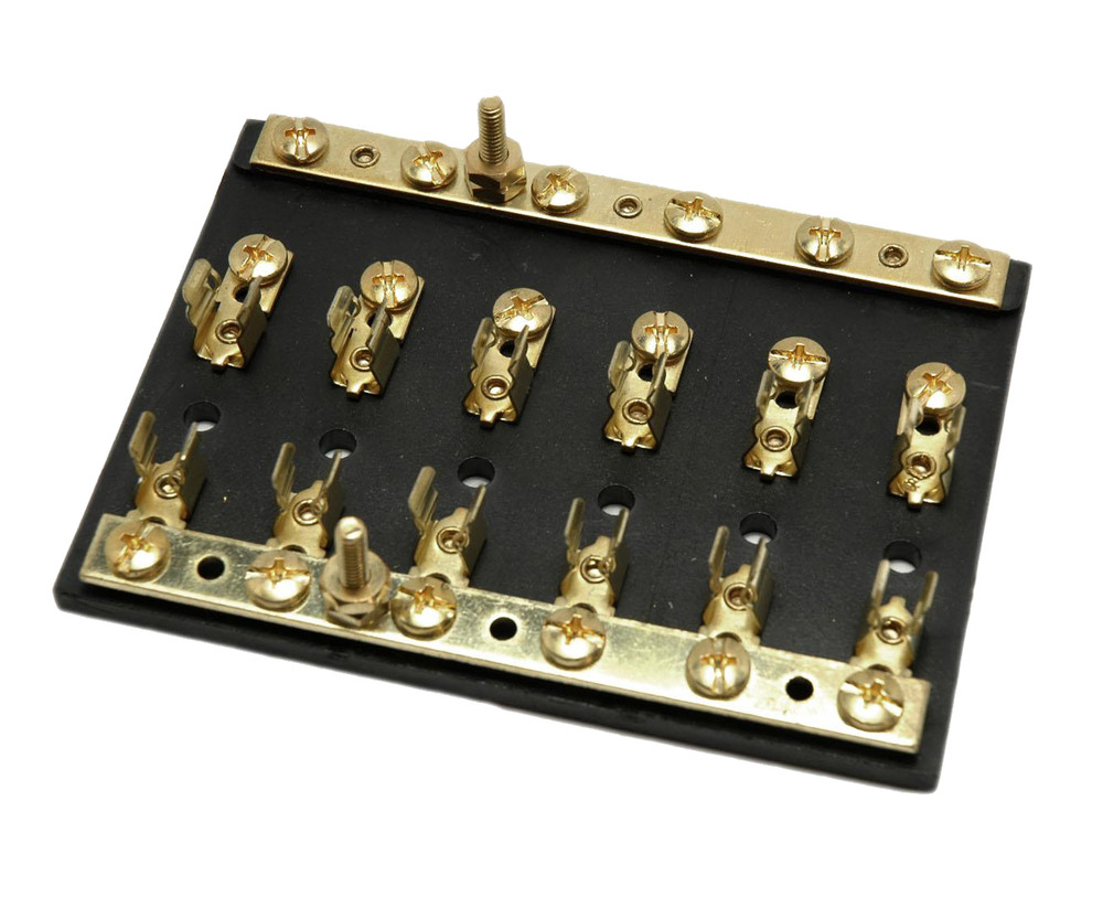 small resolution of brass fuse block with independent busbar efb20 61b