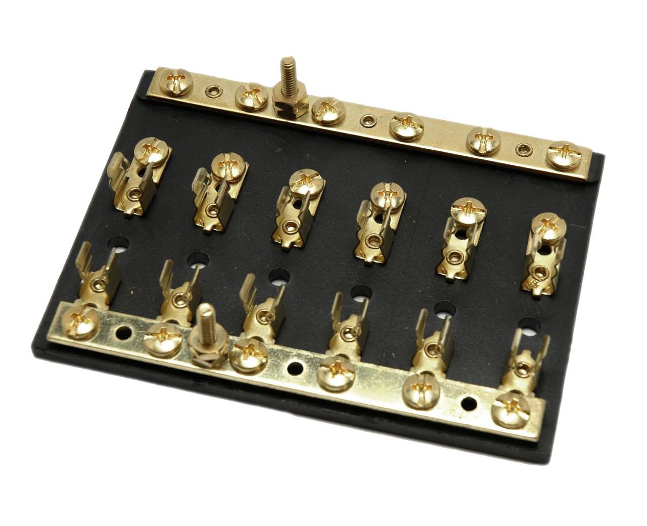 medium resolution of brass fuse block with independent busbar efb20 61b