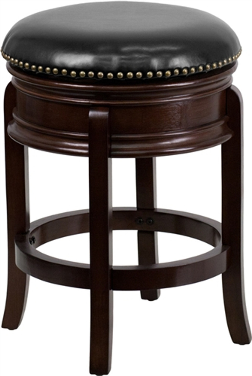 Flash Furniture Backless Cappuccino Wood Bar Stool