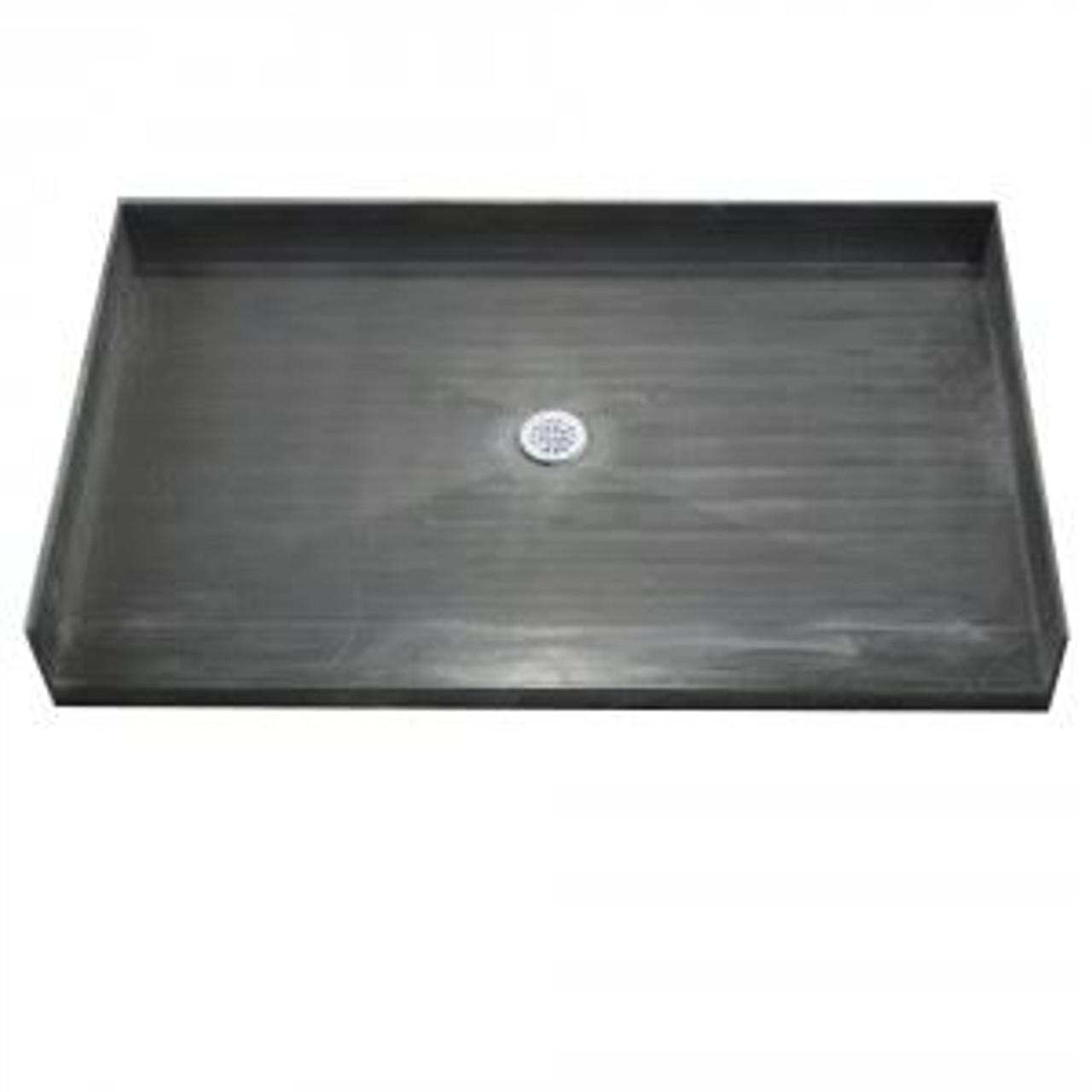 48 x 40 shower pan tile redi curbless with center drain