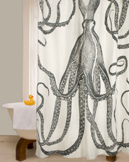 72 octopus shower curtain in ink
