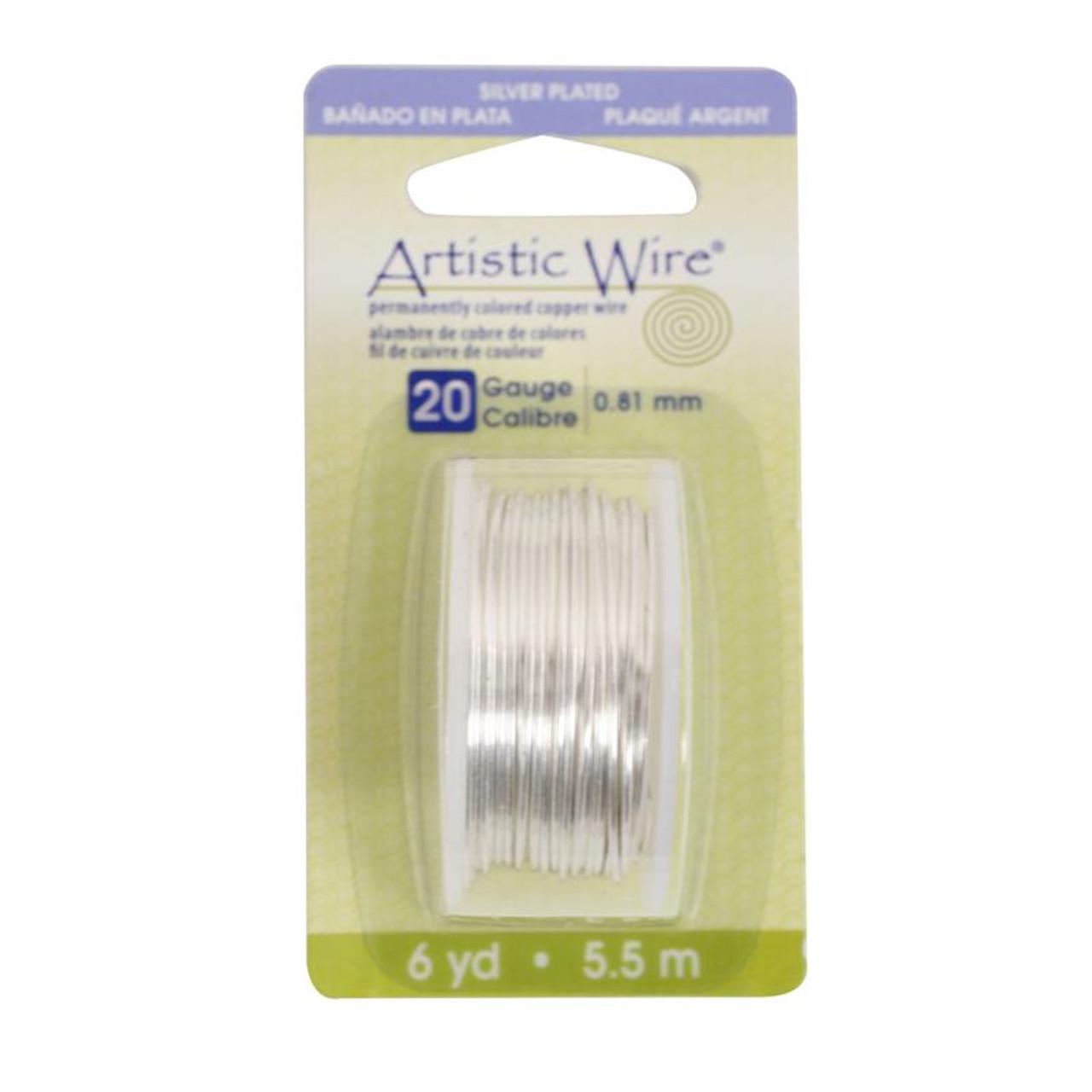Artistic Wire 20 Gauge Silver Color Craft Wire Silver Plated Copper Non Tarnish