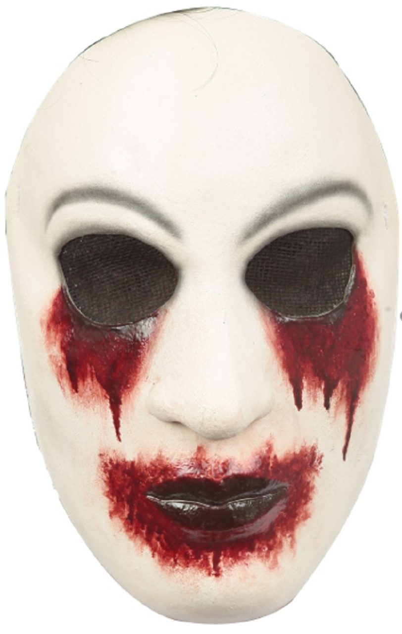 Come to womansday.com today to make your own pitch man costume. Costumes Reenactment Theater Psycho Bear Mask Scary Bloody Mouth Furry Head Fancy Dress Costume Adult Mens Accessories