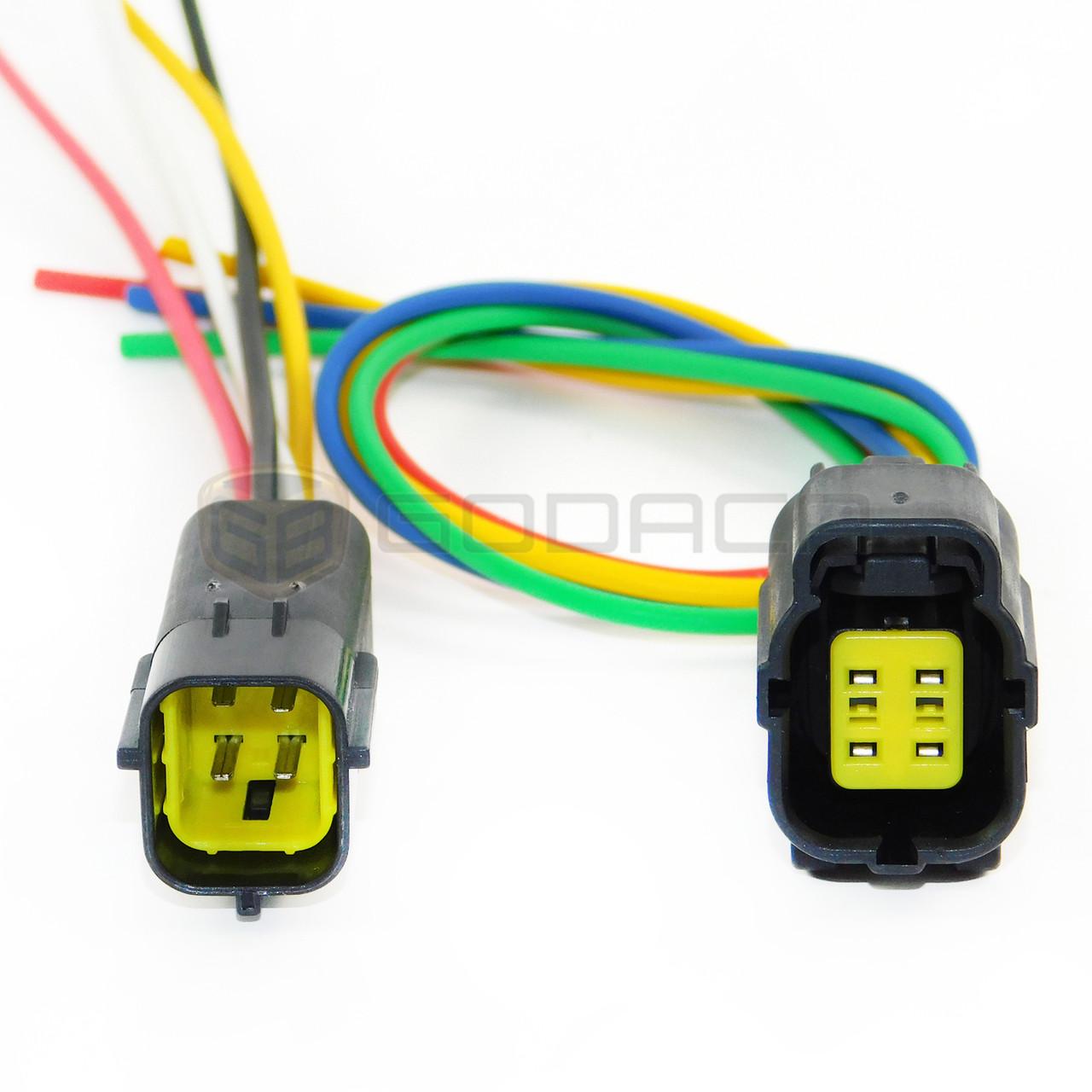 1 x female male connector harness pigtail o2 oxygen sensor chevrolet ford honda godaca llc  [ 1280 x 1280 Pixel ]
