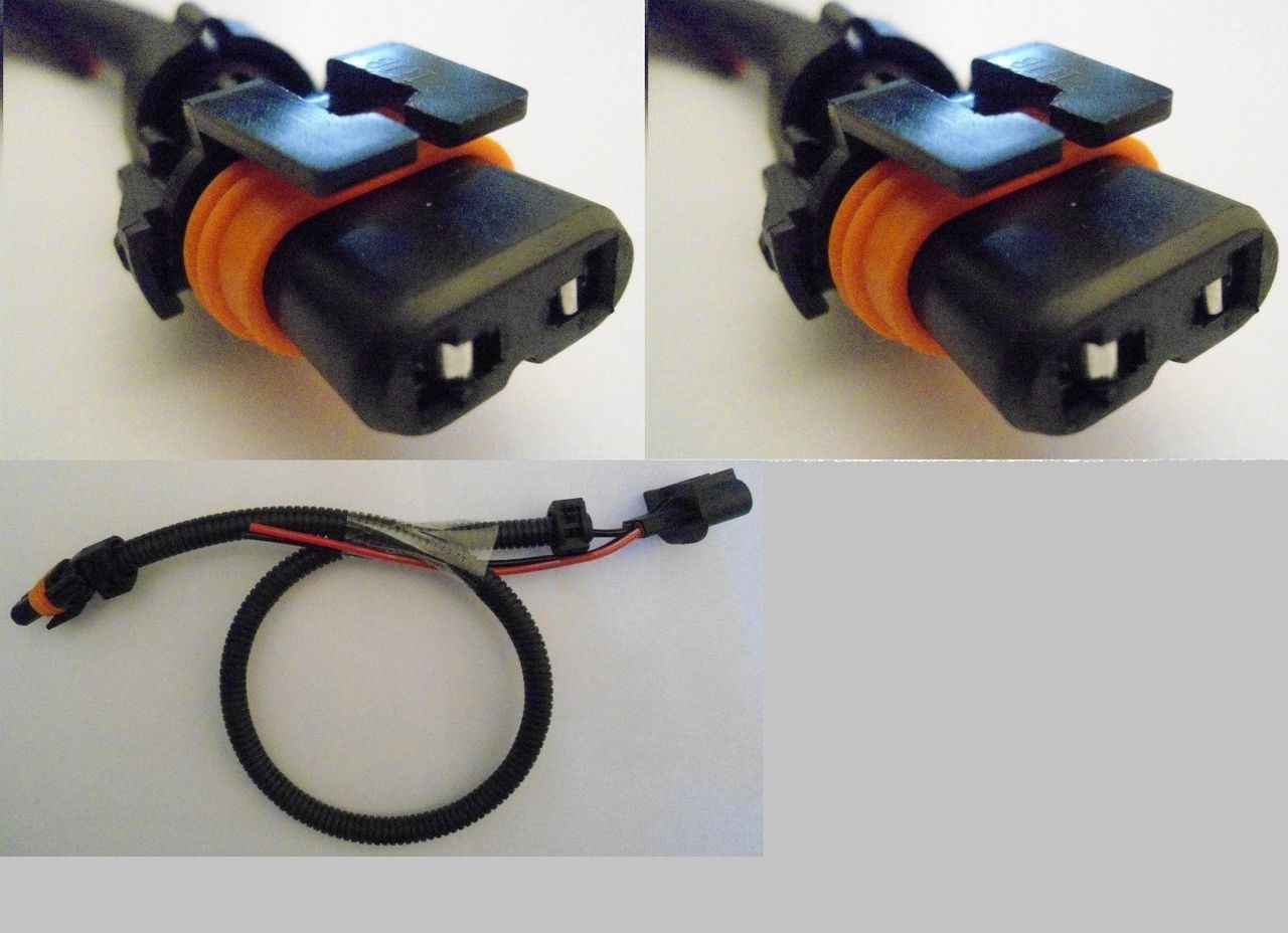 small resolution of 2 x h13 9008 wire harness hid ballast to stock socket connector plug godaca llc
