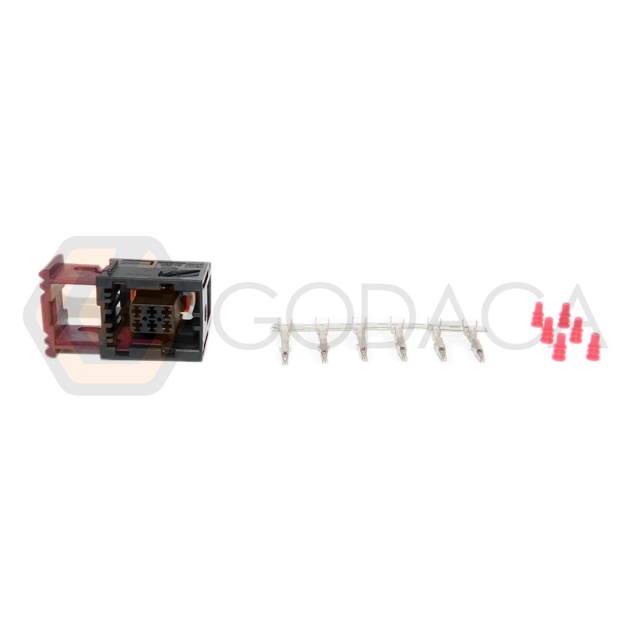 medium resolution of 1x connector 6 way 6 pin for gm door lock actuator 88986251 w out wire godaca llc