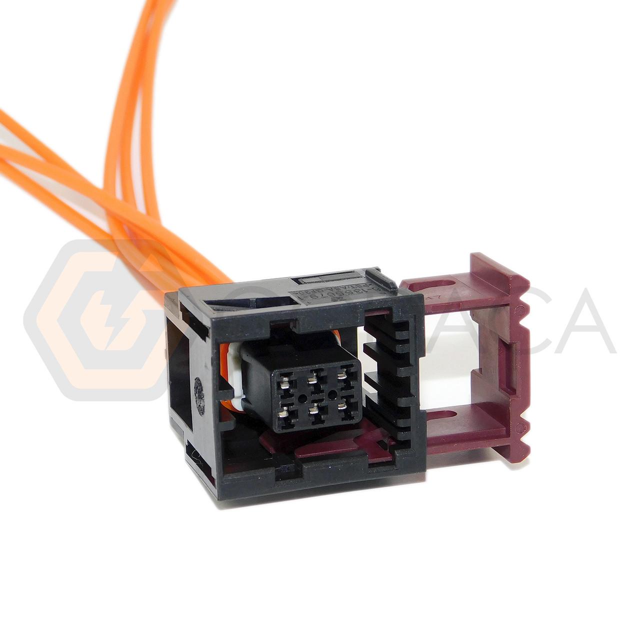 hight resolution of 1x connector 6 way 6 pin for gm door lock actuator 88986251 godaca llc
