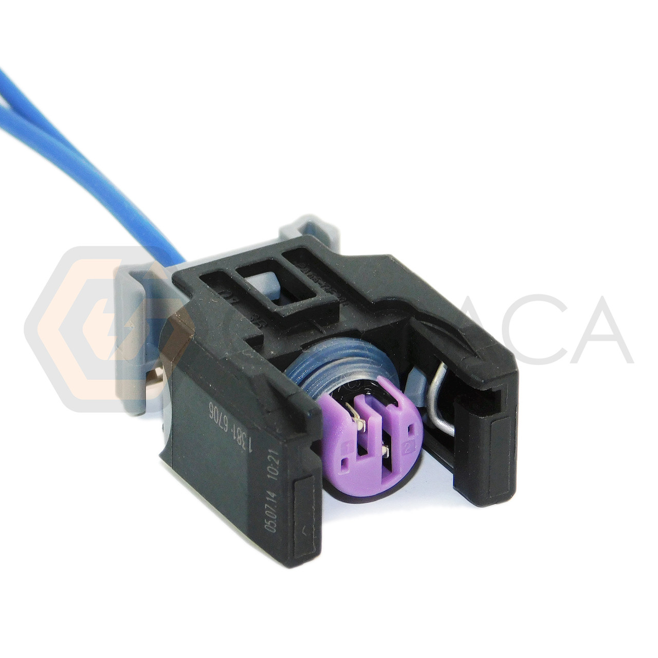 medium resolution of 1x connector 2 way 2 pin for fuel injector 13816706 delphi godaca llc