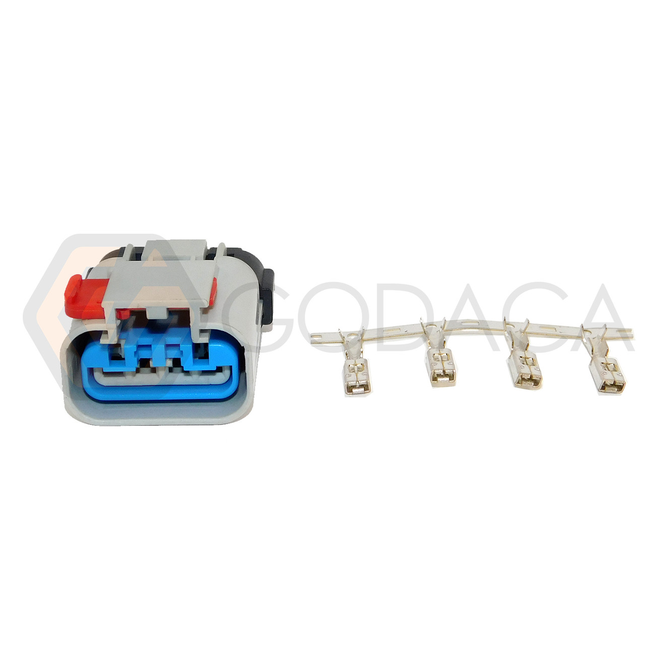 medium resolution of 1x connector 4 way 4 pin for dodge fuel pump sender pt1402 w out wire godaca llc