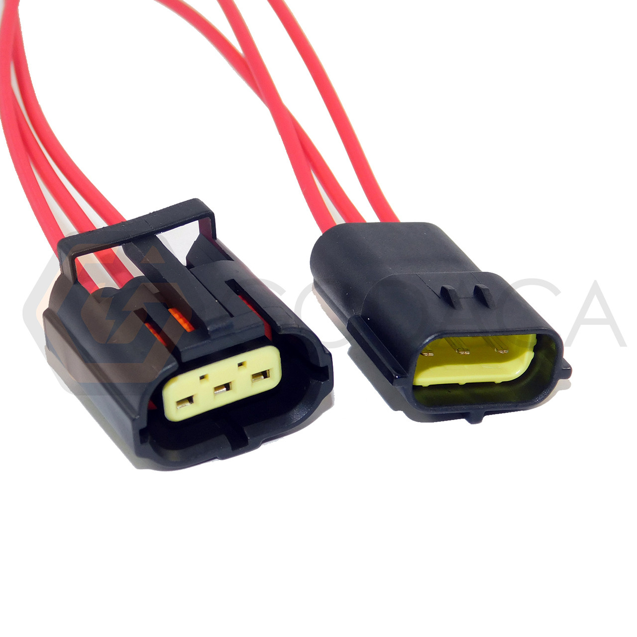 1x female and male connector 3 way for ford inertia wpt 414 godaca llc  [ 1280 x 1280 Pixel ]