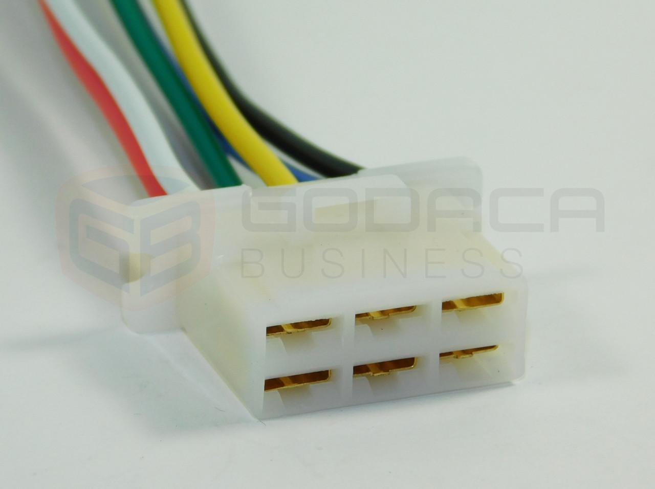 small resolution of 1x connector alternator plug repair harness 6 way 6pin socket female terminal gm