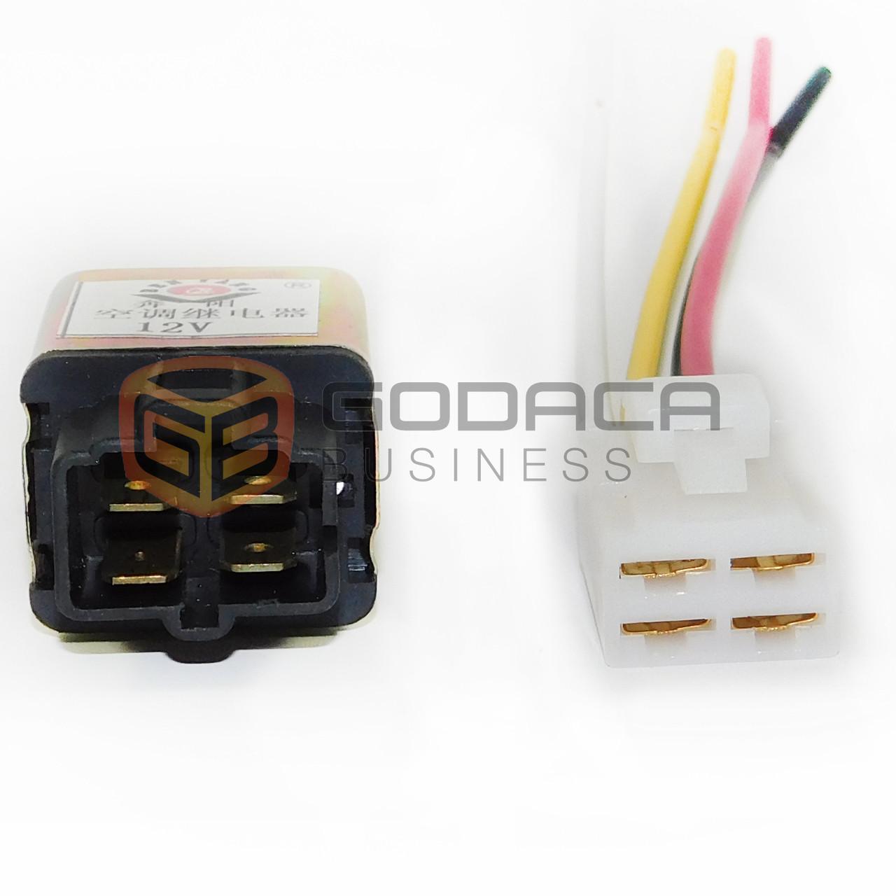medium resolution of 1x 4 pin relay and socket harness connector universal for chevrolet hyundai kia godaca llc