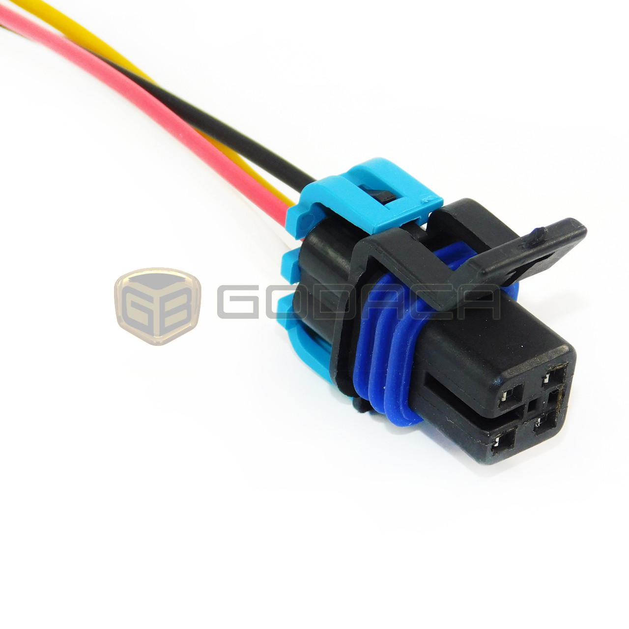 hight resolution of connector for fuel pump 4 way female wiring harness gm chevrolet oxygen 12160482 godaca llc