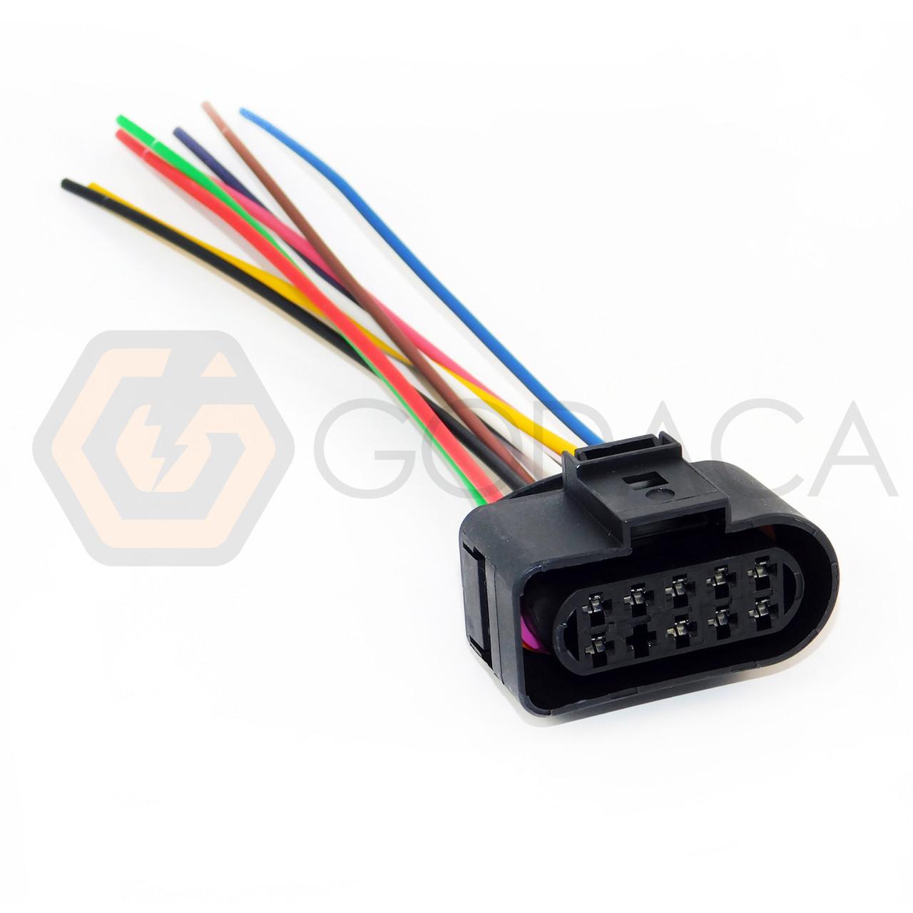 hight resolution of 1 x connector headlight for audi vw seat skoda 1j0973735 1j0 973 735 9 way ford godaca llc