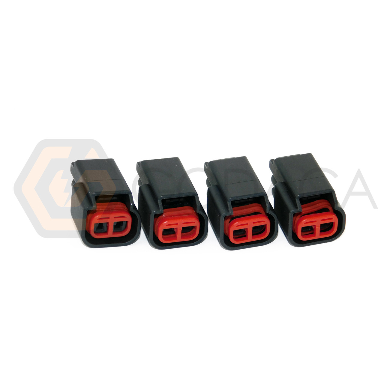 medium resolution of 4x connector 2 way 2 pin for ford mazda ignition coil wpt 986 w out wire godaca llc