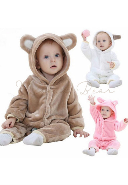 Image of: Kigurumi Hooded With Ears Animal Baby Onesies Ибей Baby Animal Onesies Mamabearph