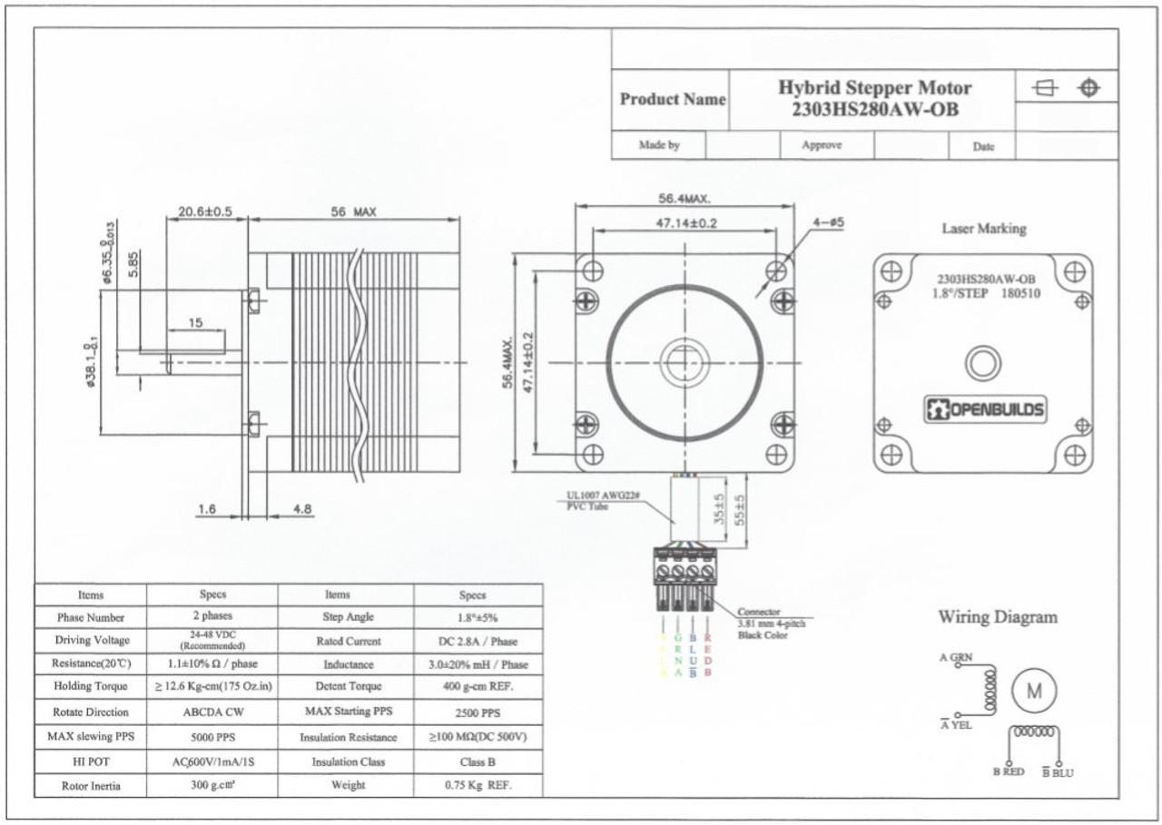 hight resolution of  nema 23 stepper motor
