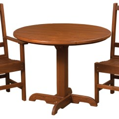 Table Chair Set Outdoor Revolution Posture Xl Cedar Single Pedestal Chairs Mattie Lu