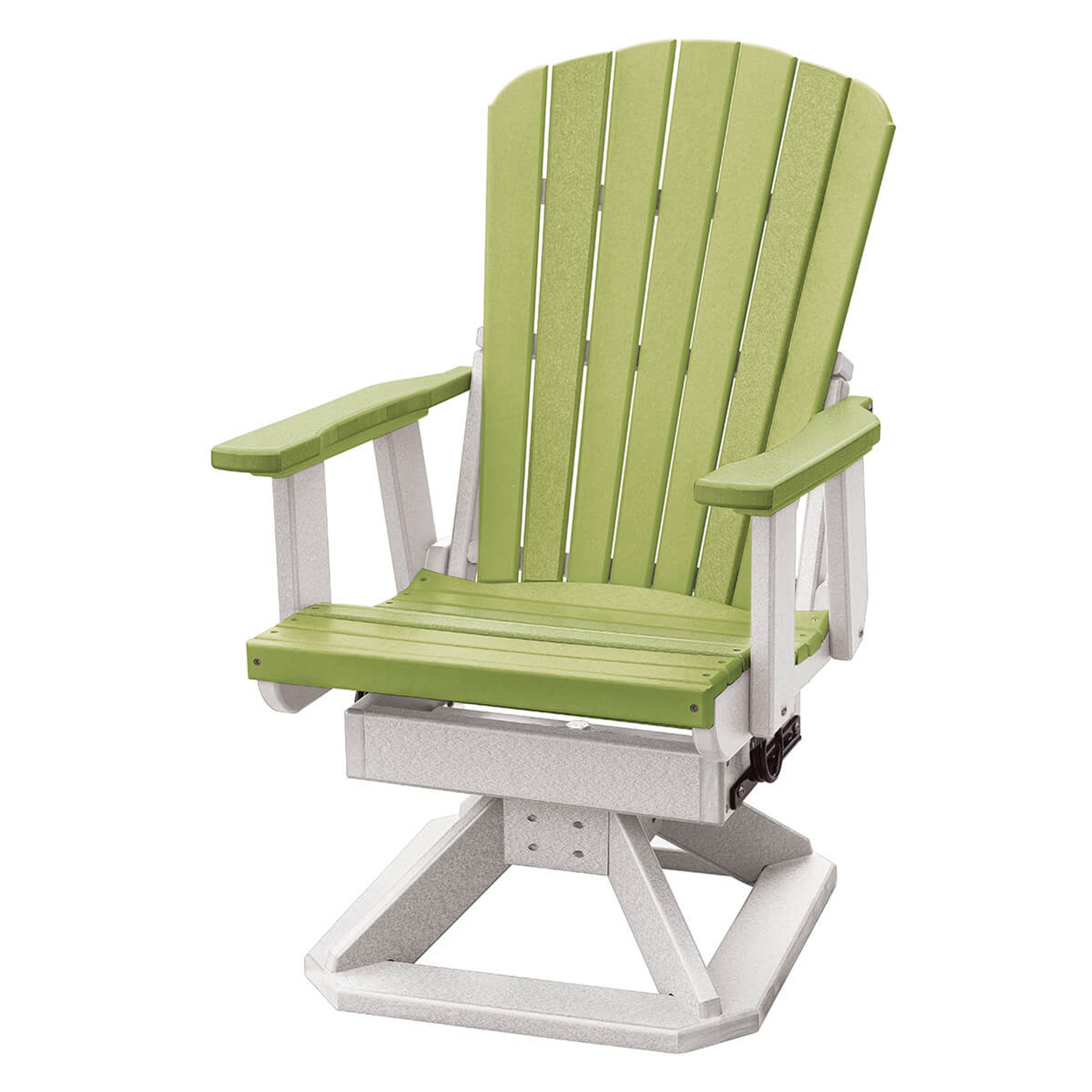 Swivel Rocking Chairs Polywood Fan Back Swivel Rocker Chair
