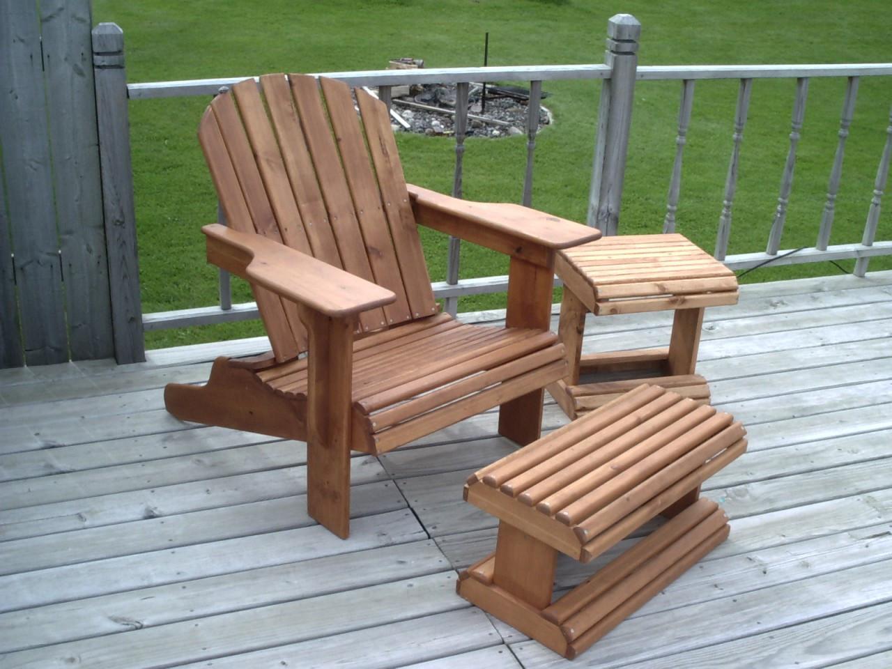 adirondack chair ottoman woodworking plans