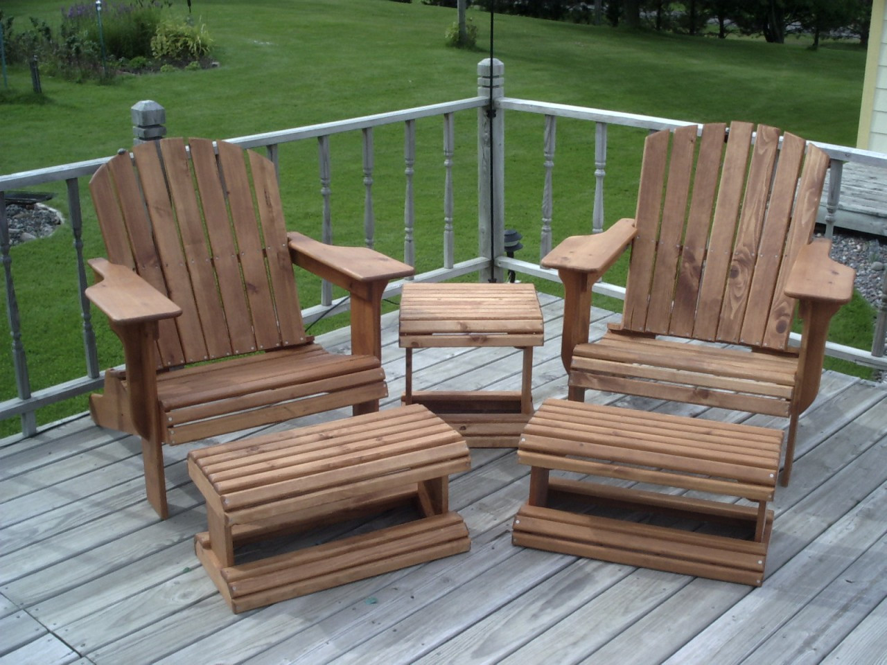 Adirondack Chair & Ottoman Woodworking Plans Full Size