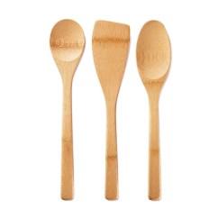 Kitchen Utensils Set Cabinet Refinishing Orlando Fl Bambu Of 3 Eartheasy Com