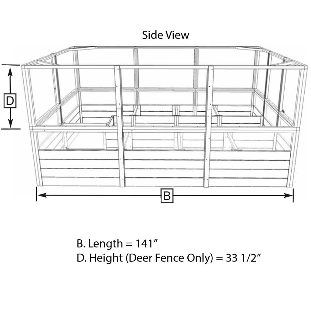 hight resolution of deer proof cedar complete raised garden bed kit 8 x