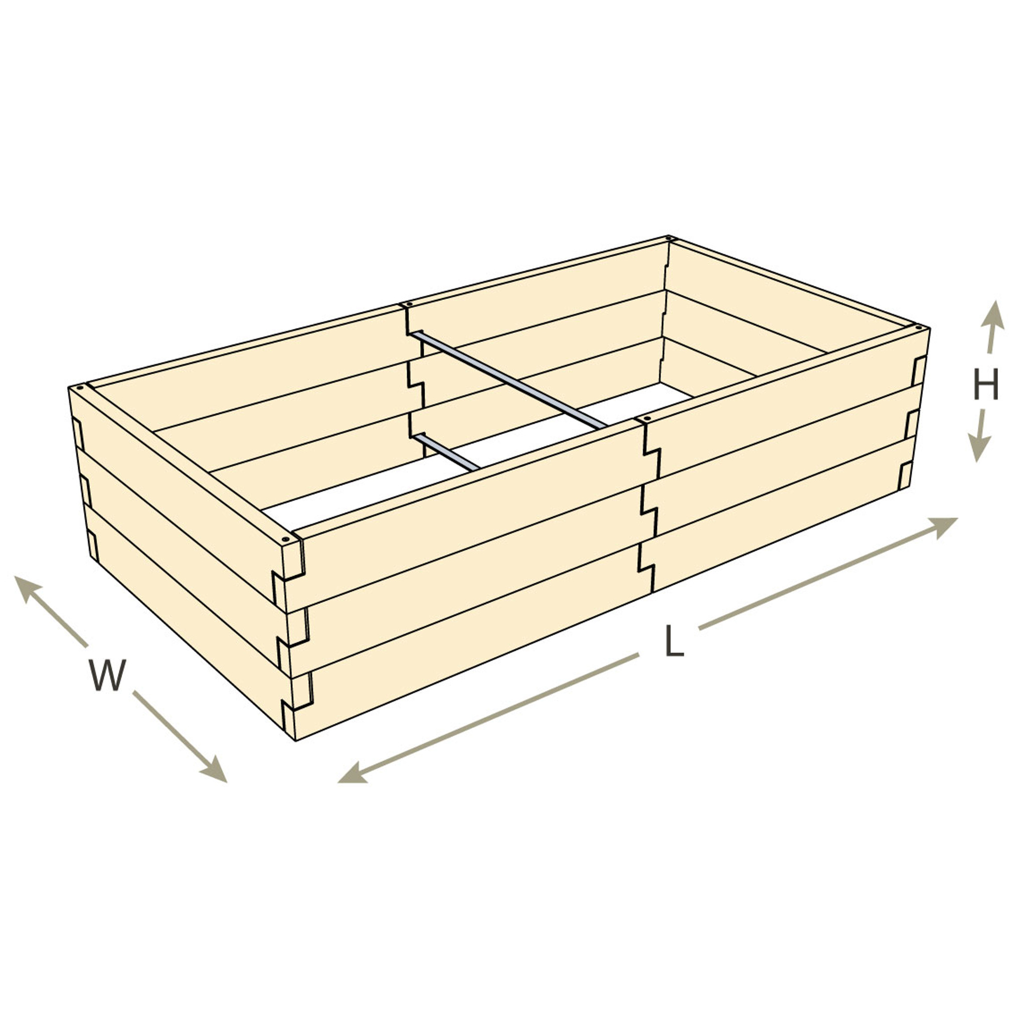 natural cedar raised bed with trim pack [ 1149 x 1149 Pixel ]