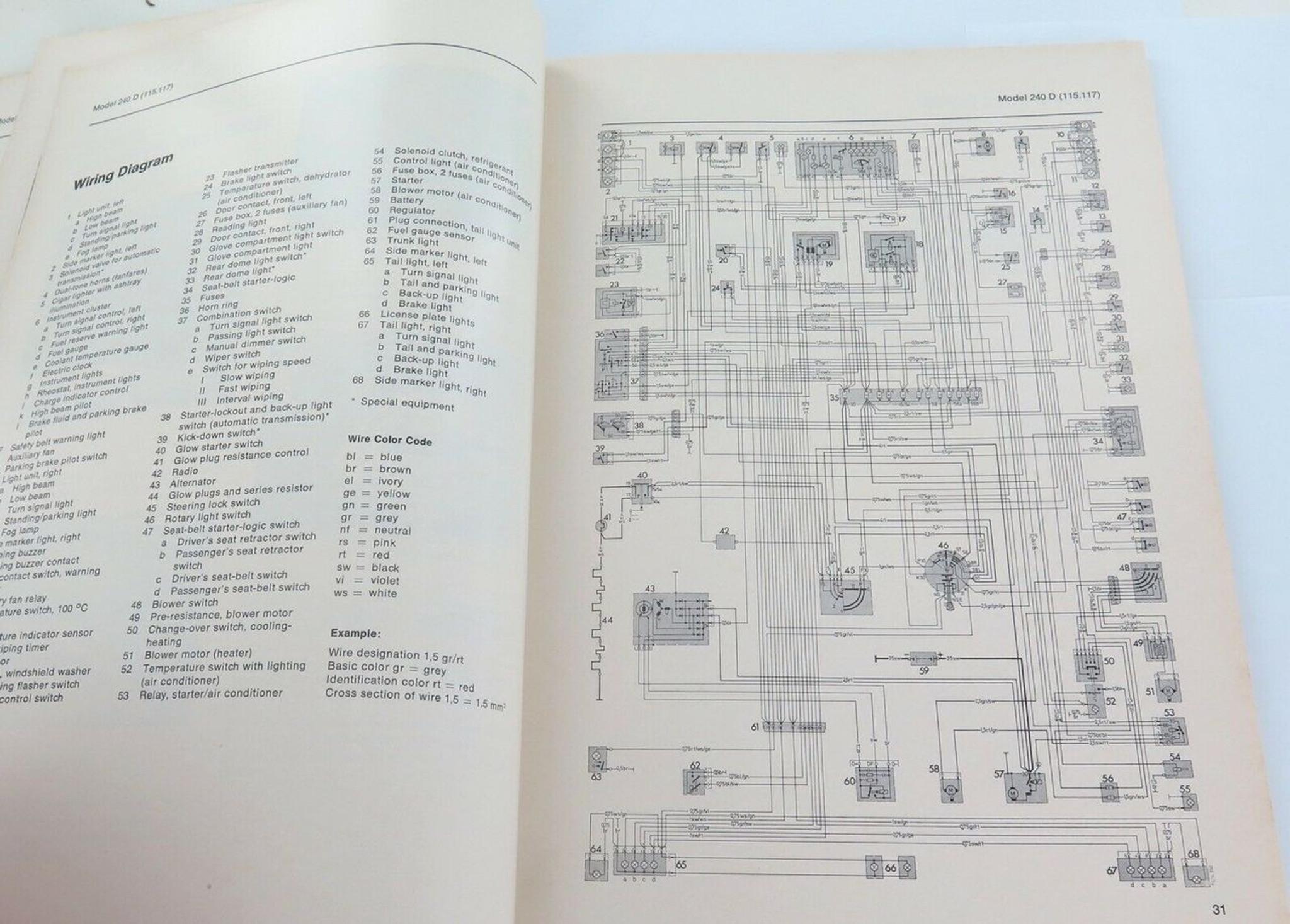 Workshop Manual For Mercedes 1974 Fuse