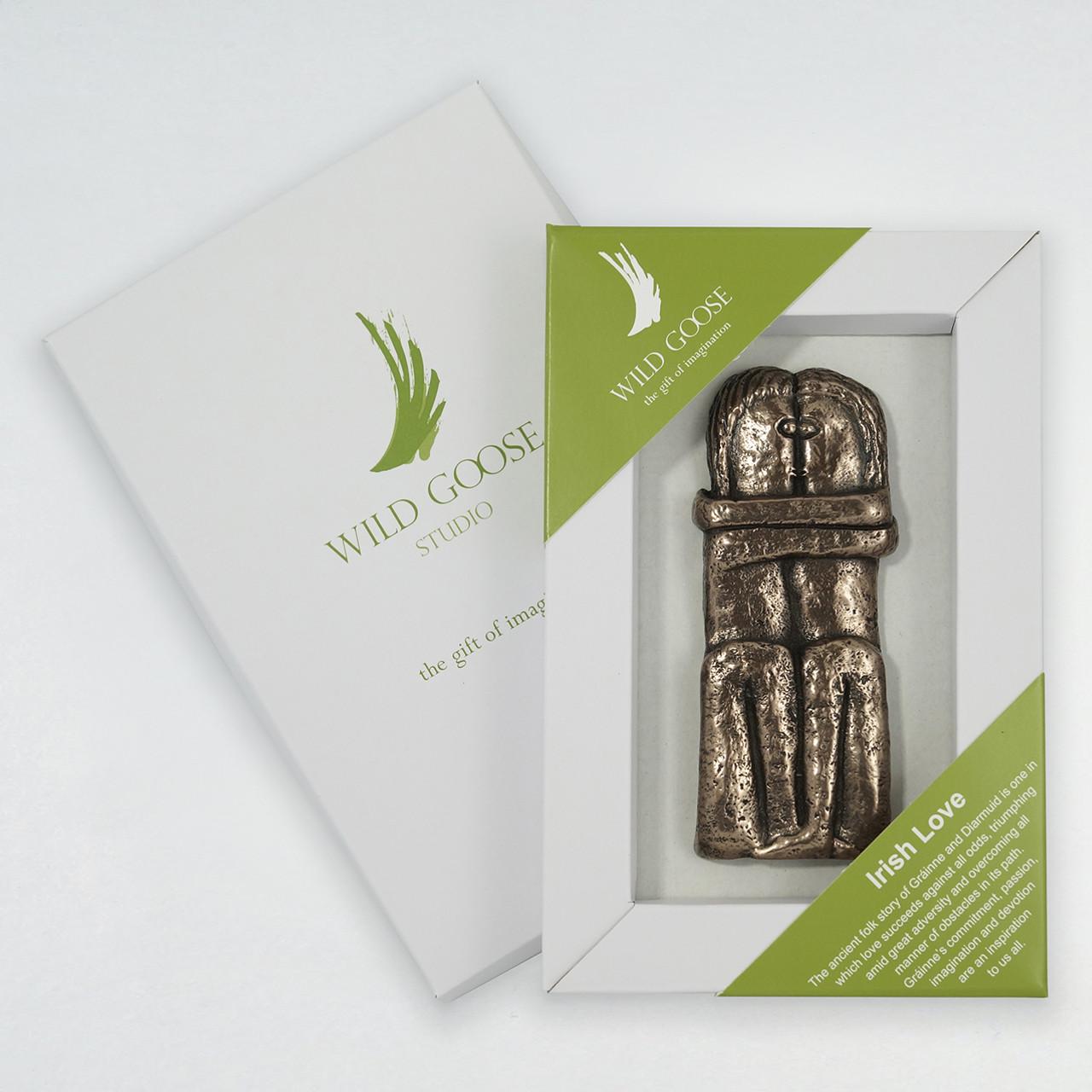 hight resolution of irish love carved bronze