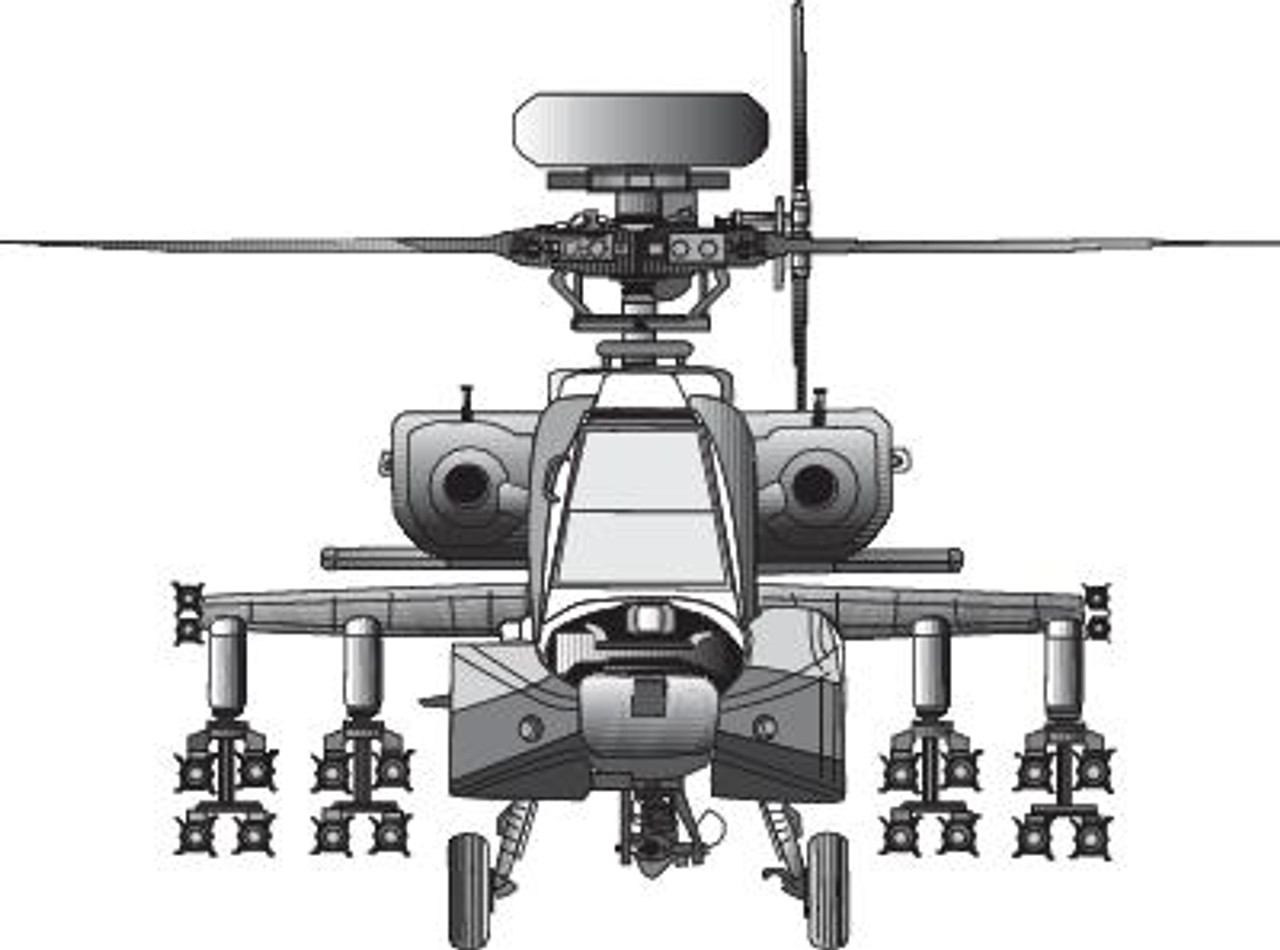 hight resolution of apache helicopter diagram