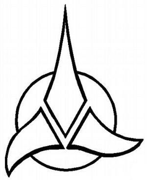 star trek klingon emblem