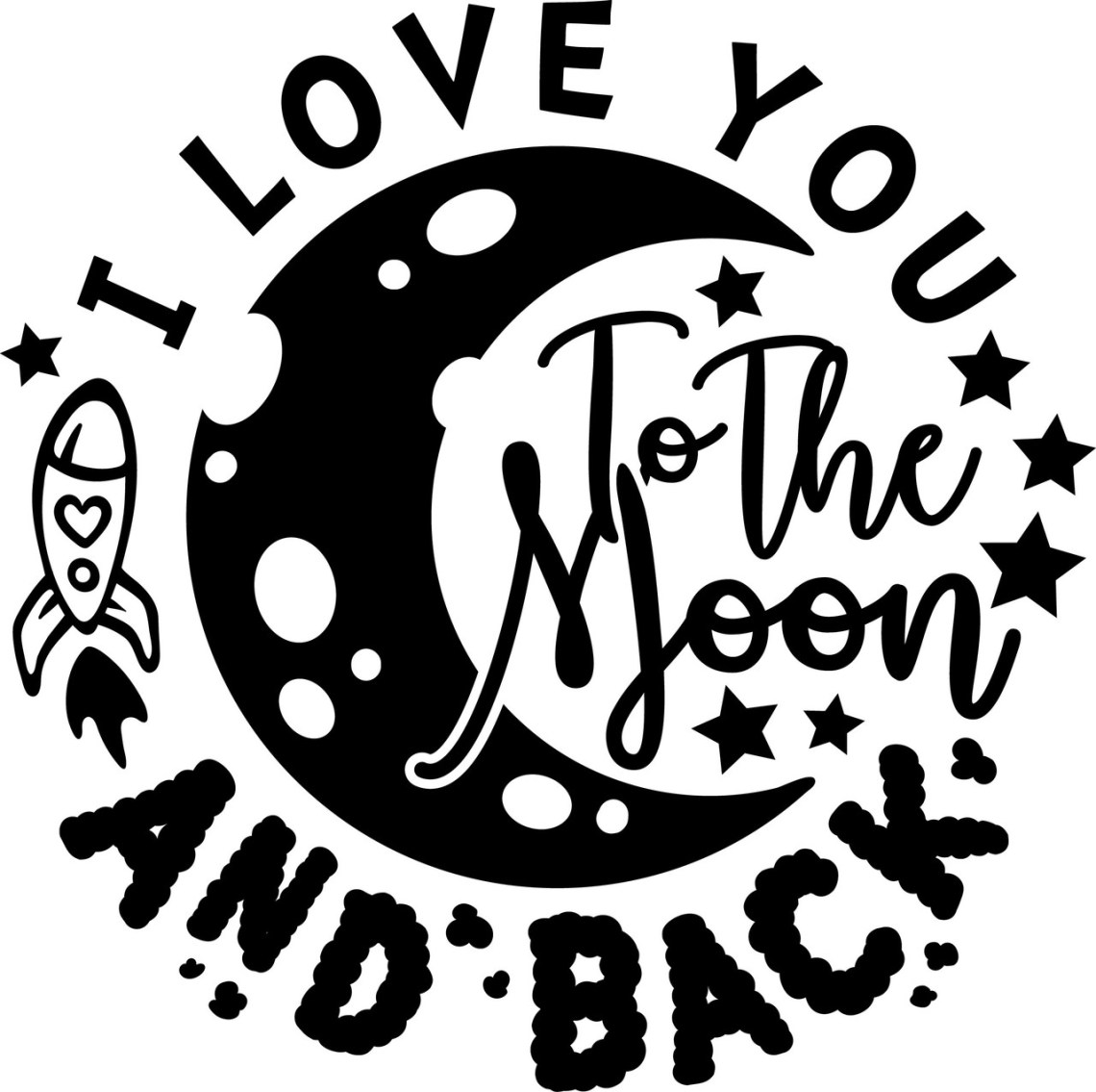 Download Free Love You to the Moon and Back SVG Cut File | Craftables