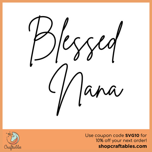 Download Free Blessed Nana SVG Cut File   Craftables