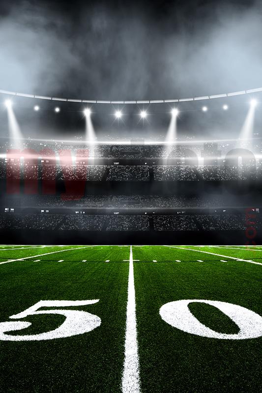 digital background football stadium