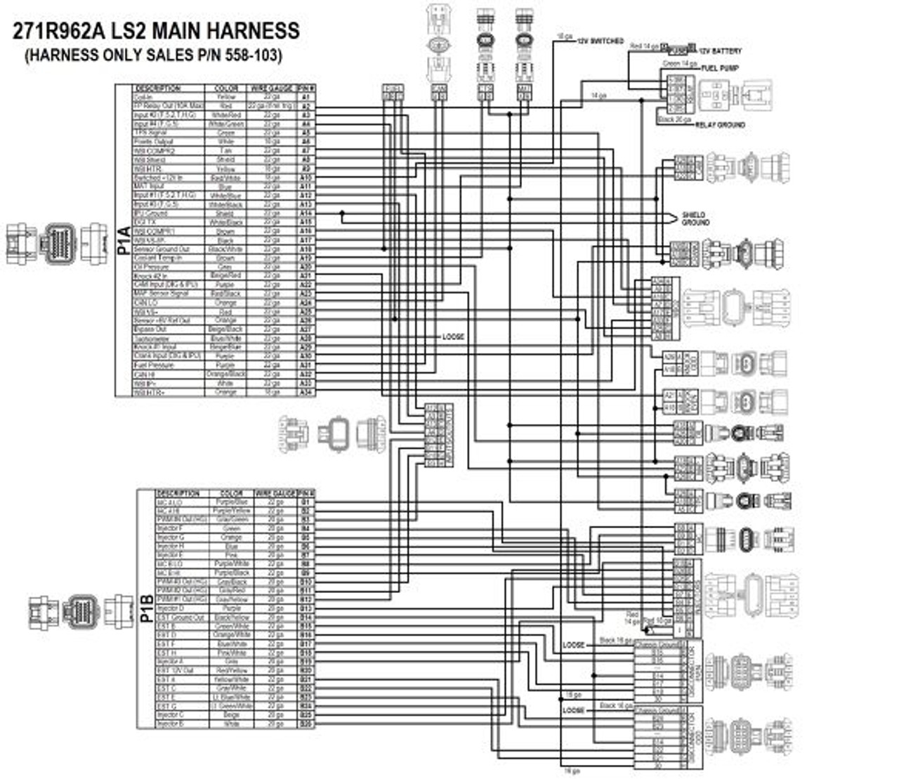 hight resolution of holley efi 550 602 hp efi ecu harness kit holley ls wiring diagram holley ls2 wiring diagram