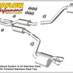 Magnaflow 15083 Magnaflow Street Series Catback With Quad 3 Tips 2011 Dodge Charger Rt 5 7l Hemi Complete Street Performance