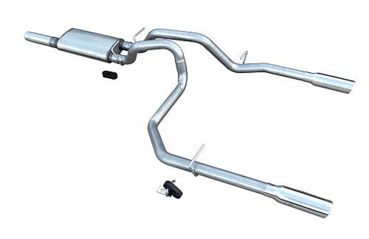 pypes catback exhaust with violator muffler dual rear exit 2014 2018 chevy silverado gmc sierra 5 3l v8 sgt29v